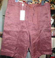 Syllables Unisex Dress Shorts Xl Ramie Red Plum