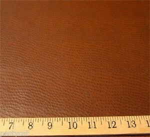 Ostrich Patterned Vinyl Upholstery Fabric Color Chocolate Brown Per