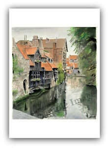 Reflections of Venice A4 A3 A2 ltd ed print of Venice Italy painting RussellArt