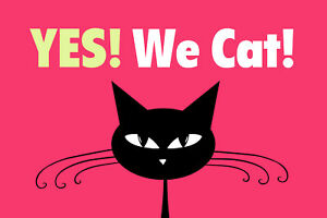 Yes We Cat! Cat Tin Sign Shield Arched Metal 20 X 30 CM R0084