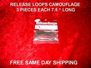 "Generous Archery Release Loops Eliminate Serving Wear,arrow Pinch 3 Pieces 7.5 "" Long Ea Large Assortment Sporting Goods"