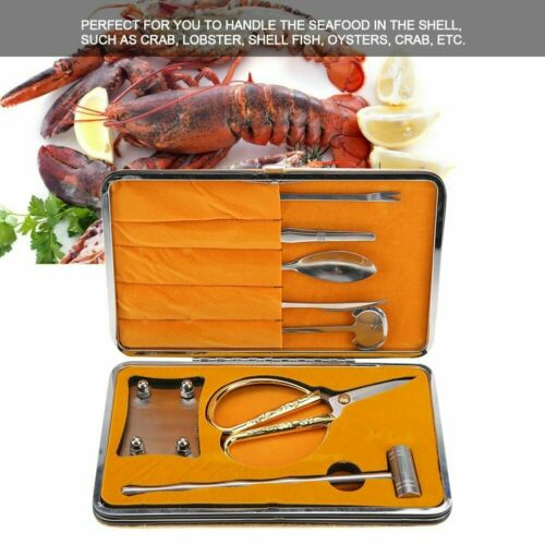 8PCS Lobster Crab Cracker Tool Stainless Steel Seafood Claw Craft Accessories