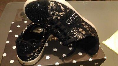 Liujo scarpe donna ragazza misura 35 sneakers strass nerarosa elegante pizzo | eBay