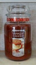 Yankee Candle Caramel Apple Cake 22 Oz. Jar Candle New Label 2016 !