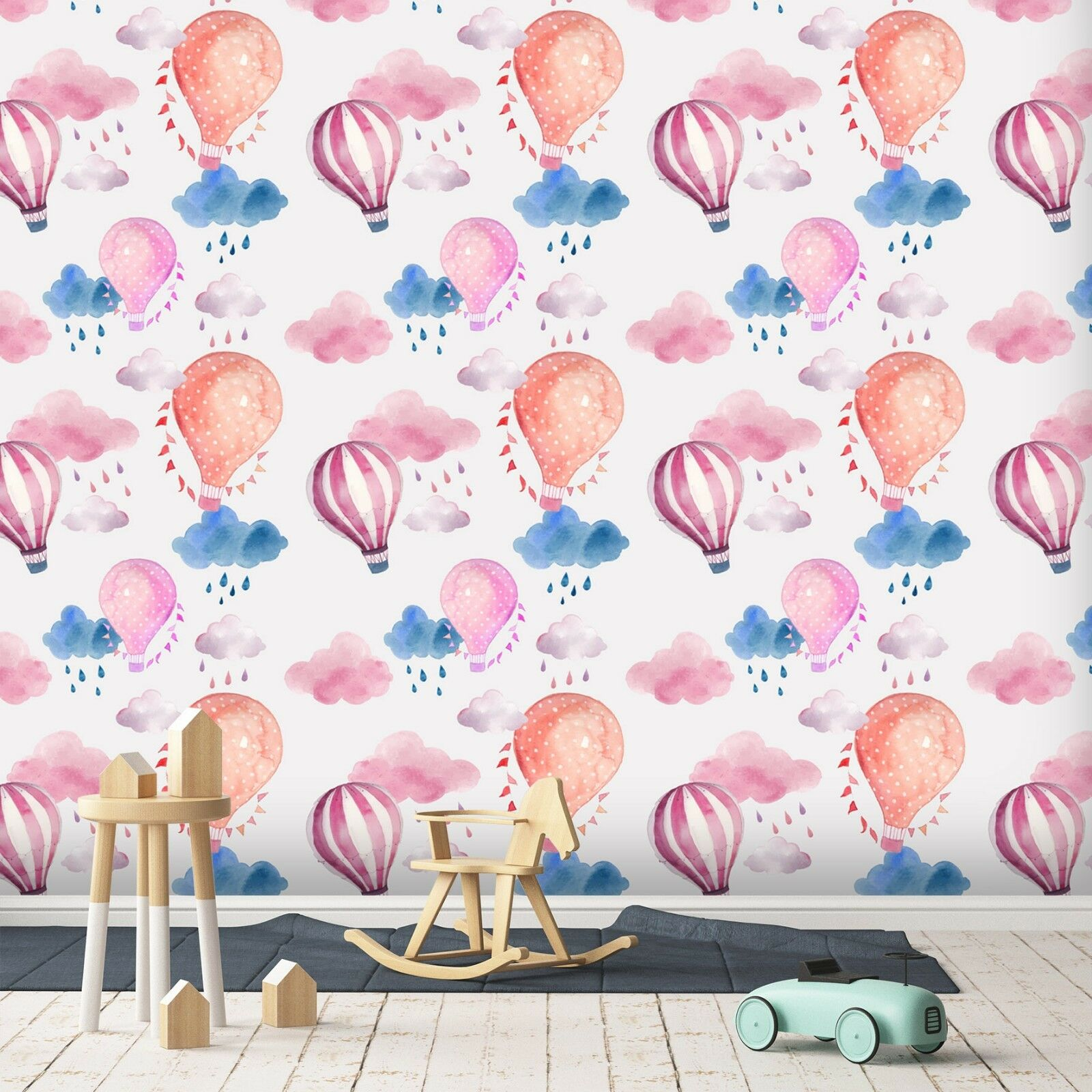 3D Hot Air Balloon 877 Wallpaper Mural Paper Wall Print Indoor Murals CA Summer