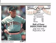 """Sparky Anderson- Manager Detroit Tigers - Hall of Fame Supercard 8"""" x 10"""""""
