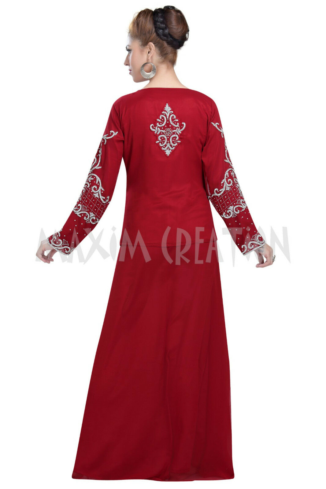 DUBAI DUBAI DUBAI KAFTAN PARTY WEAR FARASHA DRESS BY MAXIM CREATION FOR WOMEN 6070 5a537e