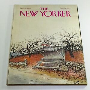The-New-Yorker-November-6-1978-Full-Magazine-Theme-Cover-Arthur-Getz