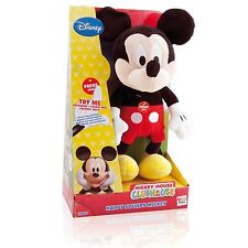 Brand New Offical Disney Mickey Mouse Clubhouse Happy Sounds Soft Plush Toy