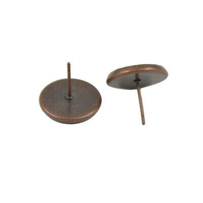Wholesale 100pcs Blank Pad Stud Earring Post Pin DIY Making Findings-6 Colors