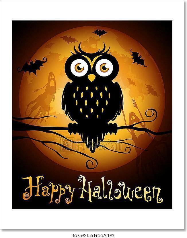 Halloween Illustration Art Print Home Decor Wall Art Poster - H