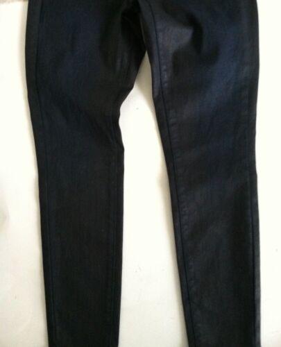 New women junior Mossimo jean legging jegging skinny black blue taper stretch