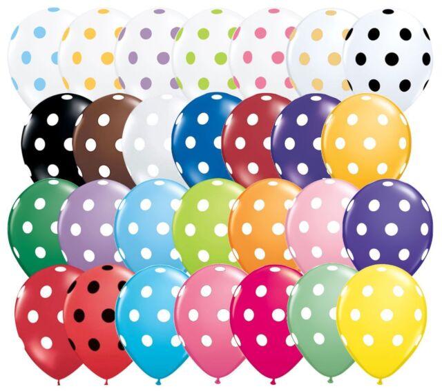 "10 pc 11/"" Inverted Polka Dot Rose Latex Balloon Party Decoration Birthday Baby"
