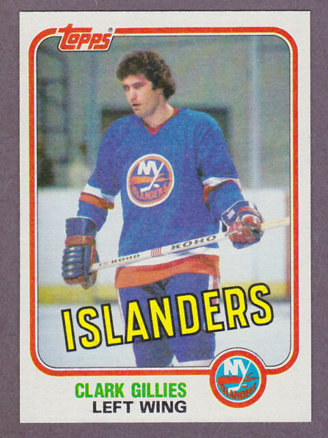1981-82 Topps Hockey Clark Gillies #88 New York Islanders NM/MT