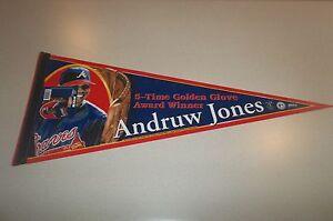 MLB-Andruw-Jones-Atlanta-Braves-Baseball-12-x-30-Wall-Pennant-Limited-Edition