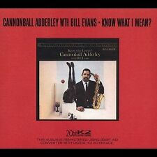 Know What I Mean? [Limited Edition Riverside Remaster] [Remaster] by Bill Evans (Piano)/Cannonball Adderley (CD, Nov-2001, Riverside Records (Jazz))
