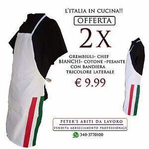 Caricamento dell immagine in corso  Grembiuli-Camici-Da-Lavoro-Ristorante-Cucina-Chef-BIANCHI- b65aad572de