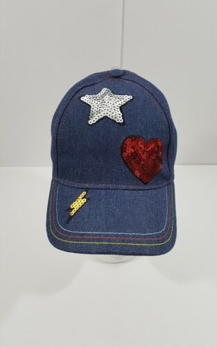 Denim Sequin Cap Womens One size