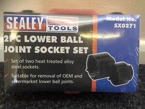 SUPER-SALE-SEALEY-SX0271-Lower-Ball-Joint-Socket-Set-2pce-Fits-PEUGEOT-CITROEN