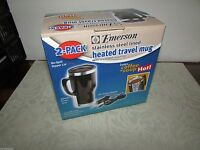 Emerson Stainless Steel 14-ounce Heated Travel Mug Set (pack Of 2)