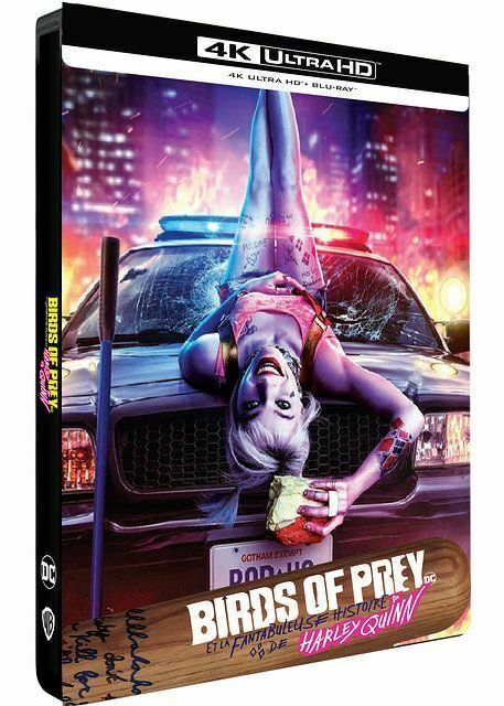 BIRDS OF PREY HARLEY QUINN STEELBOOK 4K ULTRA HD + BLU RAY NEUF SOUS BLISTER