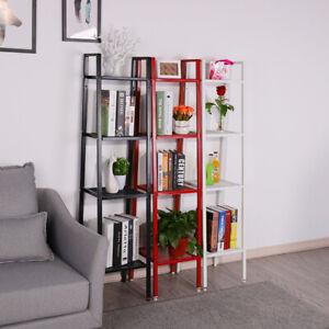4-Tier-Metal-Frame-Ladder-Shelf-Storage-Shelves-Plant-Bookshelf-Display-Standing