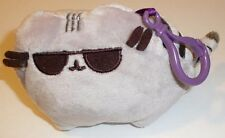 NEW and MINT! Grey Gund Huggy Buddha Backpack Clip 4 inch Plush