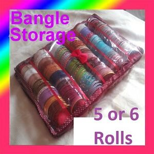 Image is loading Bangle-Box-Maroon-Colour-5-or-6-Roll- & ? Bangle Box Maroon Colour 5 or 6 Roll Holder Storage Red Burgundy ...