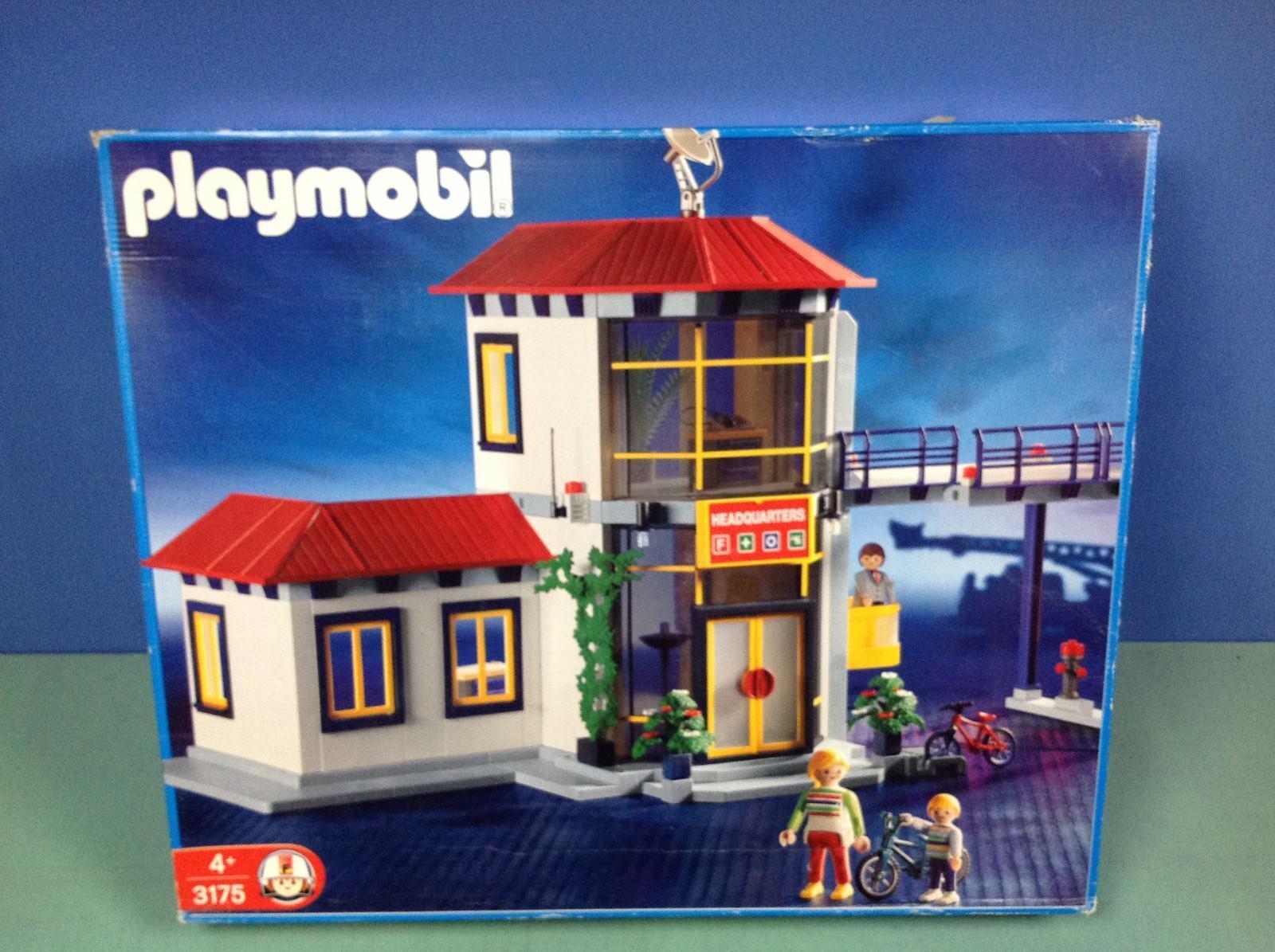 (P3175) playmobil grande caserne pompiers en boite complète ref 3175