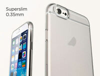 Slim TPU Gel Silicon Soft Clear Phone Case iPhone 6 Plus With Tempered Glass