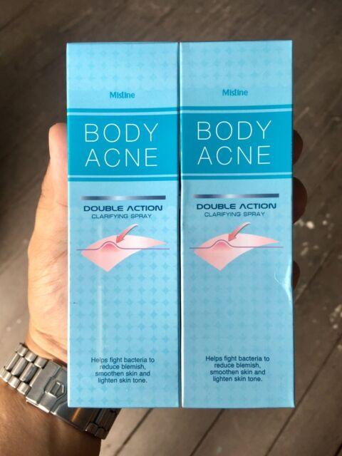 2 x Mistine Body Acne Double Action Anti Back Chest Blemish Treatment Spray 50ml