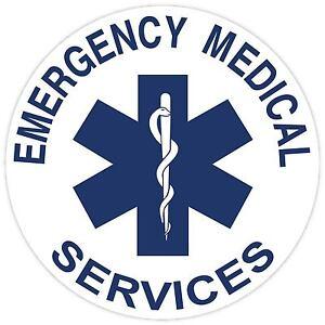Star of Life Vinyl Sticker Decal Sign SIZES Emergency Medical Paramedic EMS EMT