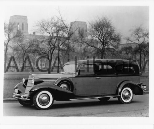 Ref. # 29921 1934 Cadillac Cunningham Hearse Funeral Coach Factory Photo