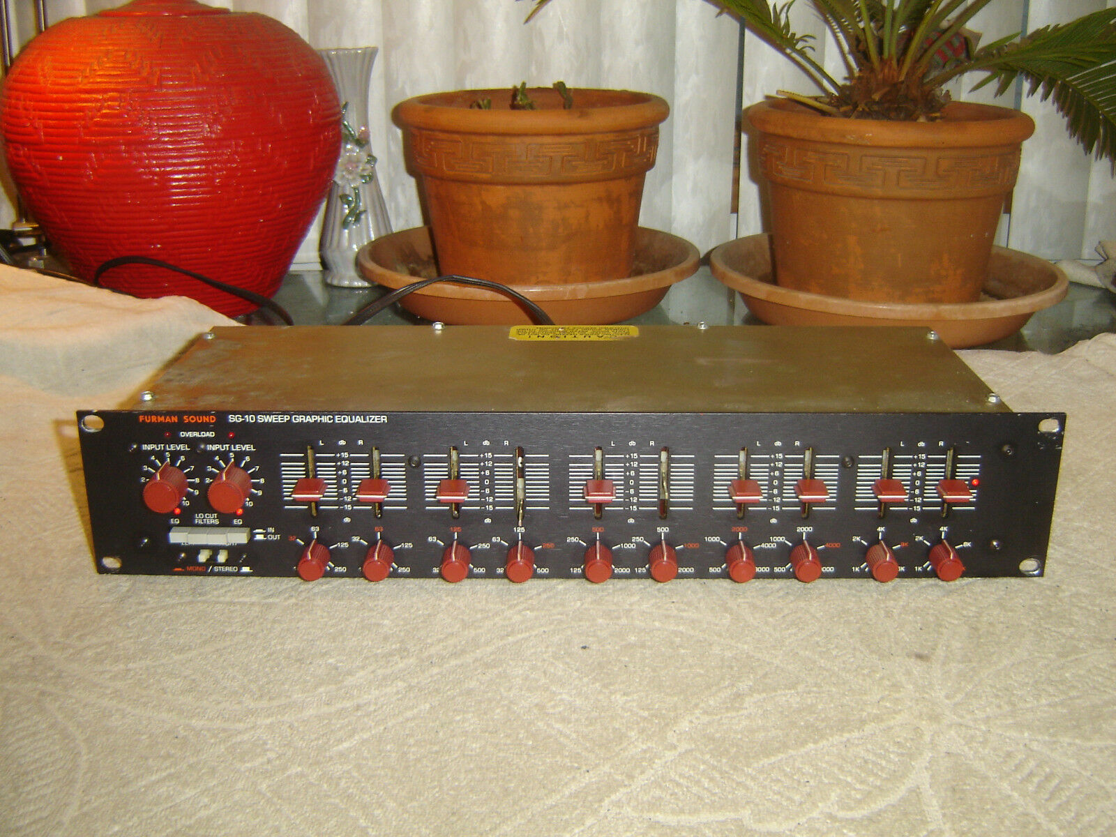 Furman SG-10, Stereo Parametric Sweep Graphic Equalizer, Eq, Vintage Rack, As Is