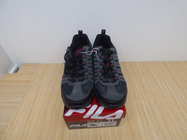 Brand New Men's FILA Westmount Hiking/Running Sneakers Black/Red/Gray Size 11