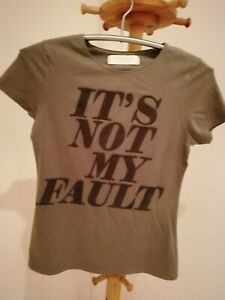 Damen-T-Shirt-von-034-Zara-034-Gr-L-graugruen
