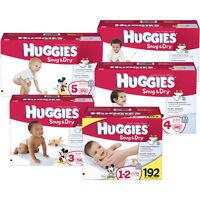 Huggies Snug & Dry Diapers, Size N, 1, 2, 3, 4, 5, 6 Cheap No Tax