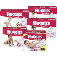 Huggies Snug & Dry Diapers, Size N, 1, 2, 3, 4, 5, 6 Cheap No Tax
