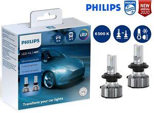 PHILIPS-H7-LED-Ultinon-Essential-Car-Headlight-Bulbs-6500K-White-11972UE2X2