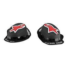 New Alpinestars Gp Rain Knee Slider Black/Red  (((((((  Pair ))))))