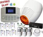 KIT ALLARME ANTIFURTO ANTIVANDALO WIRELESS GSM LCD CASA NEGOZIO UFFICIO GARAGE z