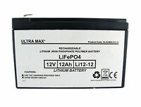 Ultramax Battery For Pigeon Magnet Lithium Iron Phosphate Lifepo4 12v 12ah