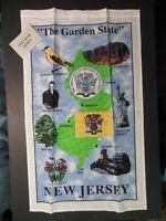 1 Jersey Souvenir Linen Towel, 16.5 X 26 the Garden State