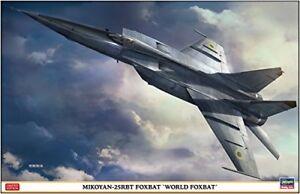Hasegawa 07471 Mig-25rbt Foxbat' Le Monde 1/48 Kit Echelle