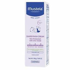 Mustela 123 Diaper Rash Cream 3.8 Oz 100ml Skin Protectant With Zinc Oxide