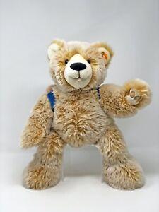 Steiff-Teddy-LARS-Weltenbummler-blond-gespitzt-38-cm-Nr-022166-neuwertig-KSF