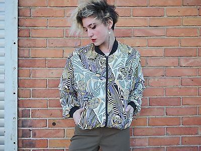 Onesto Bruns Giacca Vento Giacca Jacket Giubbotto Bomber Giacca 90´s True Vintage 90er Nos-mostra Il Titolo Originale