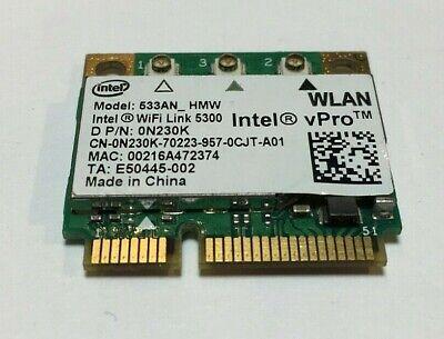 Intel WiFi Link 5300 Ultimate N Wireless Card Half Mini Pcie 802.11n