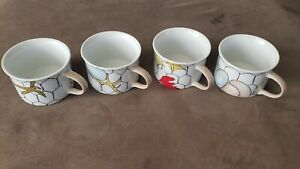 4-Vintage-taste-setter-franci-villa-vanilla-PALM-BEACH-chicken-wire-Coffee-cups