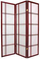 Brand 3-panel Multifunction Paper Shoji Screen Room Divider- Cherry- Asdi